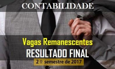 resultado final das vagas remanescentes do 2º semestre de 2017