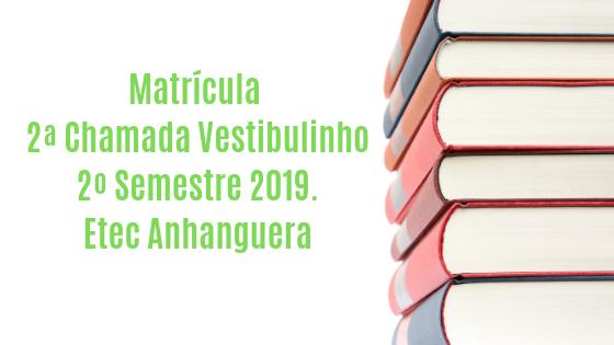 2 chamada matricula 2019-2